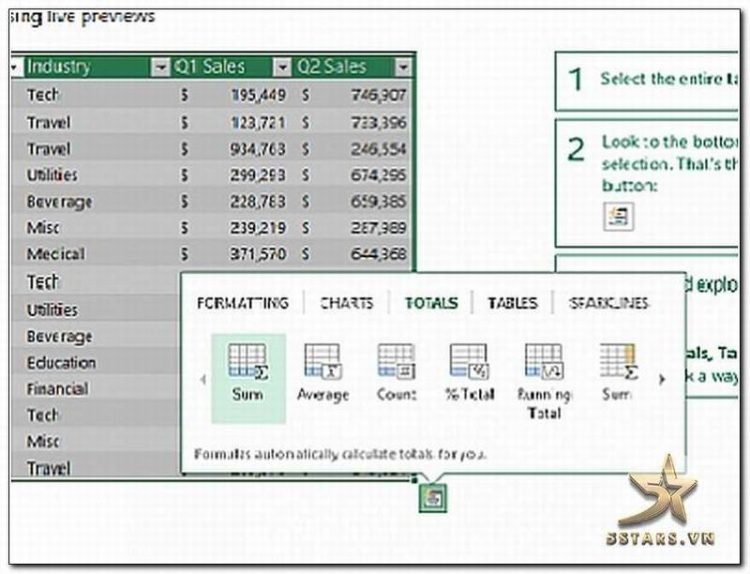 Giao diện Excel 2013